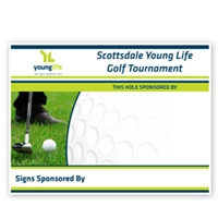 Golf Hole Sponsor Sign (Custom)