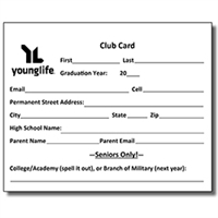 Club Cards - Alumni and Friends